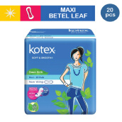 KOTEX Soft & Smooth Maxi Non Wing Daun Sirih (20 pcs)