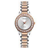 Skmei-1262 original European and American classic ladies watch diamonds elegant ladies bracelet quartz watch