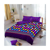 Kintakun D'luxe Bed Cover - 180 x 200 (King) - Polkadot