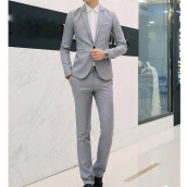 SESIBI Men Wedding Suits Bridegroom Prom suits Male Blazers Jacket + Pants Trousers M~3XL -