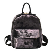 BESSKY Fashion Women Girl Velour Backpack Travel Rucksack School Bag_