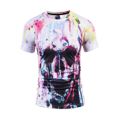 SESIBI 3D T Shirts Men's Summer Printing Tees -Painting Skull Head -