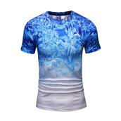 SESIBI 3D T Shirts Men's Summer Printing Tees -Happy Bamboo -