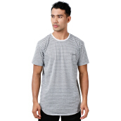W.ESSENTIELS Chest Logo Stripe Grey-White