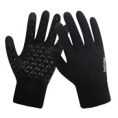SiYing Men's fashion plush imported gloves knitted touch screen non-slip gloves