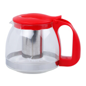 VIERA Glass Tea Pot 1250 ml TMS62-013 - Red