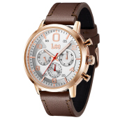 Lee Watch LEF-M126ARL5-7R jam tangan pria tali kulit Brown