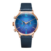 WELDER Smoothy Blue Strap RoseGold Watch [WRC204]
