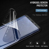 DELIVE Samsung Galaxy Note 8 Hydrogel Screen Protector 3D Curved Soft Full Coverage Film Not Tempered Glass White