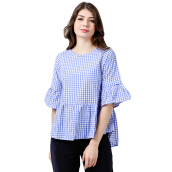 ALERA Official Keilin Flare Blouse - Light Blue [All Size]