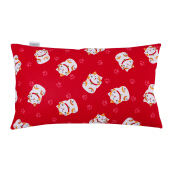 JOYLIVING Cushion Rectangular Cat Boath Side 30 cm  x 50 cm - Red