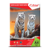 E-PRINT Glossy Photo Paper Alumunium Pack A4 200gsm 20 Sheets