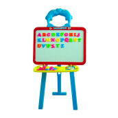 Papan Tulis Standing Learning Easel Mainan Anak Multicolor