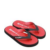 Ando Sandal Jepit Casual Pria Hawaii Fashion - Red Black