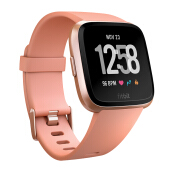 FITBIT Versa Heart Rate GPS Fitness SmartWatch Resmi - Peach Rose Gold Aluminum
