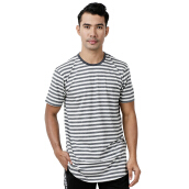W.ESSENTIELS Chest Logo Pinstripe Grey-Black