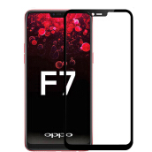 DELIVE OPPO F7 Full Cover Tempered Glass 3D Screen Protector Global Version Film Hitam