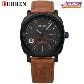 CURREN Original Brand Men Watch Luxury Leather Strap Quartz Watch Waterproof Clock 8139