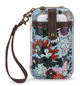 Sakroots Smartphone Crossbody Wallet Sky Blue Flower Power