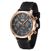 Lee Watch LEF-M126ARV1-8R Jam tangan pria bahan denim Black