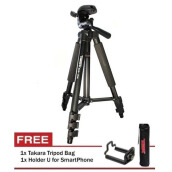 Tripod Takara Eco 173A Plus Holder For Camdig - Actioncam & HP Black