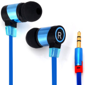 SMZ658 Professional 1.1M In-ear Headset Perfect HiFi Sound Earphone Flat Wire Good Sound Insulation-Blue