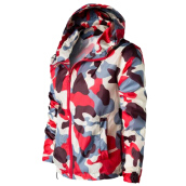 Fashionmall Camouflage Mesh Lining Zip Up Windbreaker Jacket