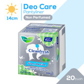 LAURIER Pantyliner Cleanfresh Silvery Deo Care 20's