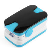 Color LED Display Fingertip Pulse Oximeter Spo2 PR Blood Oxygen Pressure Meter Blue