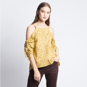 ART.TIK-GODONG CIPIR OFF SHOULDER BLOUSE-Yellow