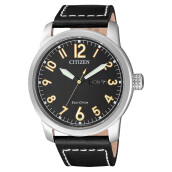 Citizen BM8471-01E Eco-Drive Chandler Men Black Dial Black Leather Strap [BM8471-01E]