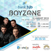 BOYZONE 25 YEARS FAREWELL CONCERT– LIVE IN BANDUNG - VVIP