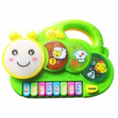 Kaptenstore Mainan Edukasi Anak Caterpillar Music ELF Piano - Animal Ulat Light Green