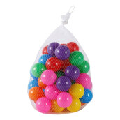 COZIME 50pcs Colorful Ball Soft Plastic Ball Funny Bath Swim Ball Toy For Baby Kid Multicolor