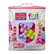 MEGA BLOKS Big Building Bag (60Pcs)(Pink) DCH54