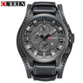 CURREN Top Brand Luxury Men Watches Male Leather Strap Quartz Business Watch 8225