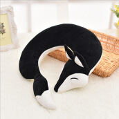 Jantens HazyBeauty Lovely Fox Animal Cotton Plush U Shape Neck Pillow Travel Car Home Pillow Nap Pillow