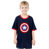 MARVEL Captain America Icon Kids T-shirt W228 – Navy Blue