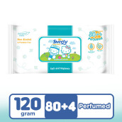 SWEETY Baby Wipes Perfumed 80+4s