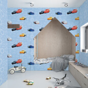 DREAM WORLD - Boy Room Cars 3 D5116-1 ( 1.06 x 15.60m )