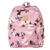 COZIME Women Floral Printed PU Leather School Bookbag Travel Shoulders Bag Backpack Pink