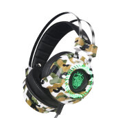Professional Gaming Headphones Built-in Sound Card USB 7.1 Channel Headset ACU Camouflage