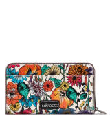 Sakroots Large Zip Around Wallet Optic In Bloom