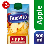 BUAVITA Apple Carton 500ml x 12pcs