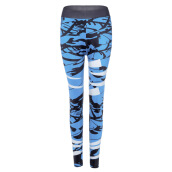 Fashionmall Trendy Mid Waist Print Skinny Elastic Leggings Women Yoga Pants