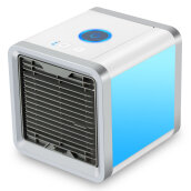 AOSEN Mini Desktop Air Conditioner USB Rechargeable Small Fan Cooling Portable  Cooler Gray