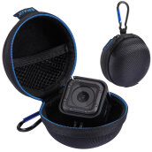PULUZ PU207B Compact Round Storage Case Box Suitable For Gopro HERO4 Session Black