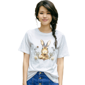 INMAN F1882022710 T Shirt Women Cute Animals Pattern Comfortable Summer T Shirt