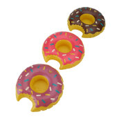 3pcs/set Colorful PVC Inflatable Donuts Summer Beer Juice Drink Cup Holder Multicolor