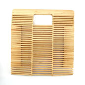 [LESHP]Folding Bamboo Woven Women Hollow Out Handbag for Travelling shopping Others